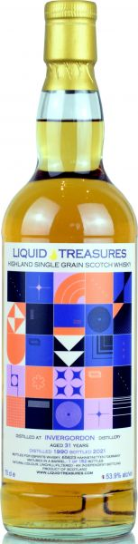 Invergordon 31 Jahre 1990/2021 Liquid Treasures Retro 53,9% vol.