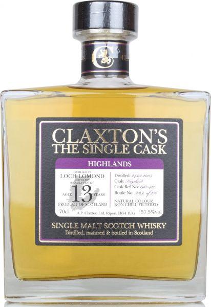 Loch Lomond 13 Jahre 2005/2019 heavily peated Claxton's 57,5% vol.