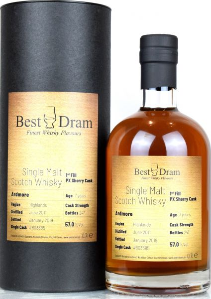 Ardmore 7 Jahre 2011/2019 1st Fill PX Sherry Best Dram 57,0% vol.