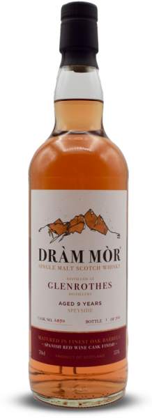 Glenrothes 9 Jahre 2011/2020 Red Wine Cask Dram Mor 55% vol.