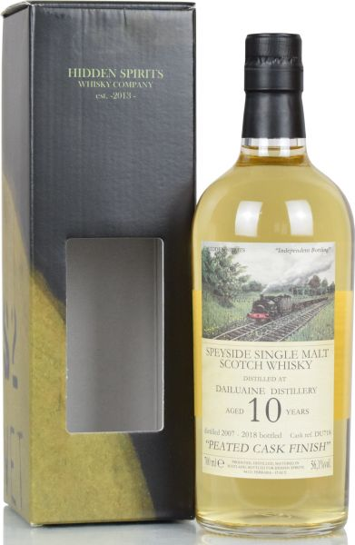 Dailuaine 10 Jahre 2007/2018 Peated Cask Finish Hidden Spirits 56,1% vol.