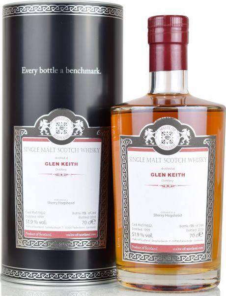 Glen Keith 20 Jahre 1999/2019 Sherry Hogshead Malts of Scotland 51,9% vol.