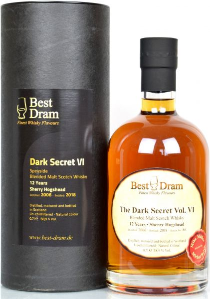 The Dark Secret Vol VI 12 Jahre 2006/2018 1st Fill Sherry Best Dram 58,9% vol.