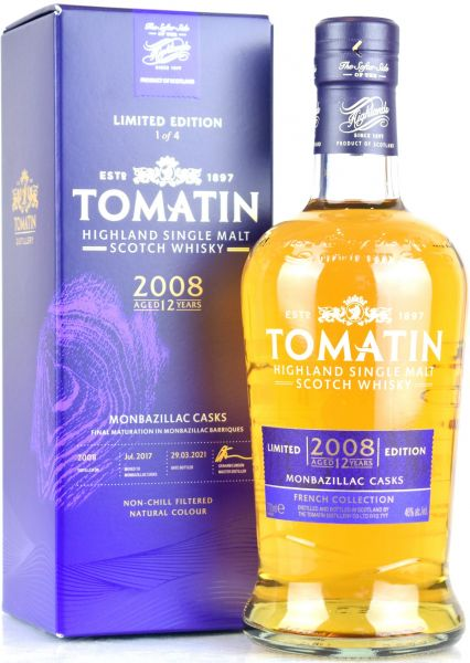 Tomatin 2008/2021 Monbazillac Cask French Collection 46% vol.