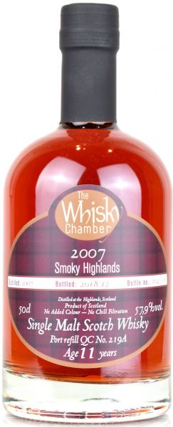 Smoky Highland 11 Jahre 2007/2019 Port Cask The Whisky Chamber 57,9% vol.