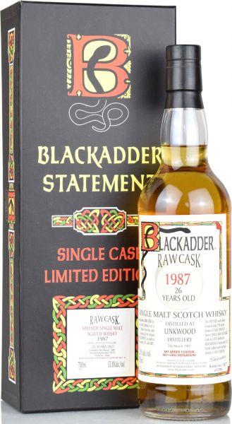 Linkwood 26 Jahre 1987/2013 Blackadder Statement Raw Cask 53,8% vol.
