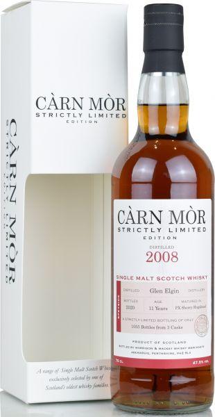 Glen Elgin 11 Jahre 2008/2020 PX Sherry Cask Carn Mor Strictly Limited 47,5% vol.