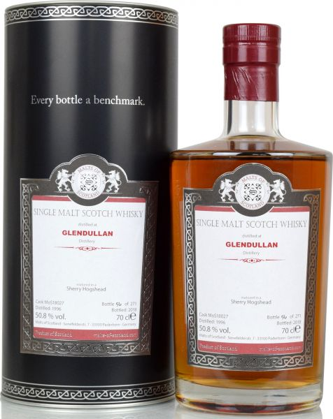 Glendullan 22 Jahre 1996/2018 Sherry Cask Malts of Scotland 54,7 % vol.