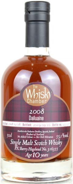Dailuaine 10 Jahre 2008/2019 PX Sherry Cask The Whisky Chamber 55,1% vol.