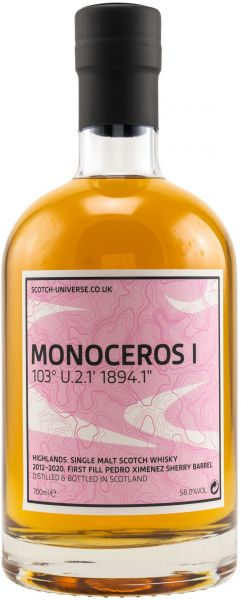 Monoceros I 2012/2020 1st Fill PX Sherry Scotch Universe 58% vol.