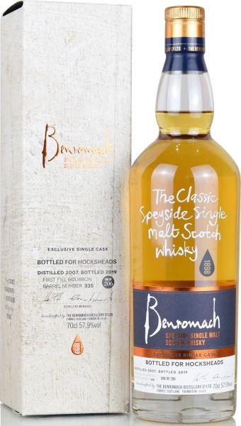 Benromach 12 Jahre 2007/2019 1st Fill Bourbon Cask bottled for Hocksheads 57,9% vol.