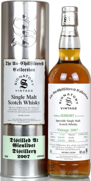 Glenlivet 11 Jahre 2007/2018 1st Fill Sherry SV Un-Chillfiltered Collection #900272