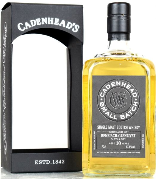 Benriach 10 Jahre 2008/2018 Cadenhead's 57,6% vol.