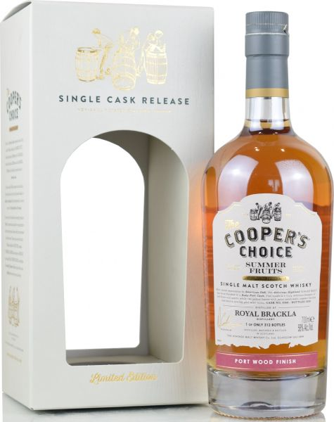 "Royal Brackla ""Summer Fruits"" 2020 Port Wood Cooper's Choice 58,0% vol."