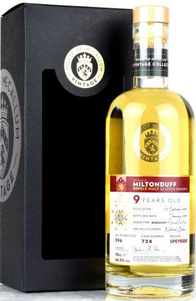 Miltonduff 9 Jahre 2009/2019 Burgundy White Wine House of McCallum #724 46,5% vol.