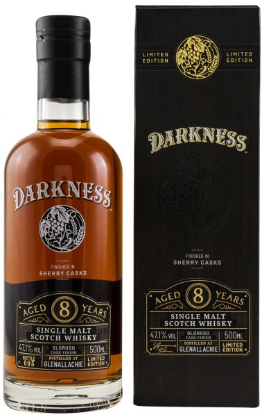 Glenallachie 8 Jahre Oloroso Sherry Finish Darkness! 47,1% vol.