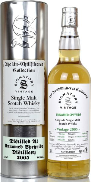 Unnamed Speyside 2005/2018 SV Un-Chillfiltered Collection #DRU 17/A106 51+52