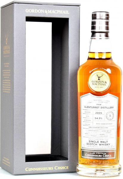 Glenturret 13 Jahre 2005/2018 Gordon & MacPhail Connoisseurs Choice Cask Strength 54,3% vol.
