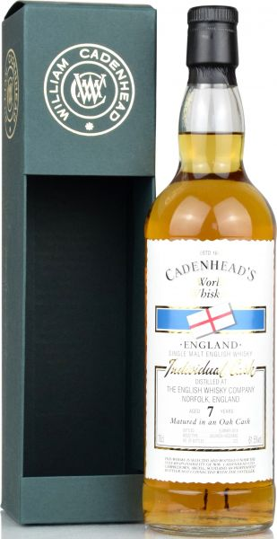 The English Whisky 7 Jahre 2010/2018 Cadenhead 61,5% vol.