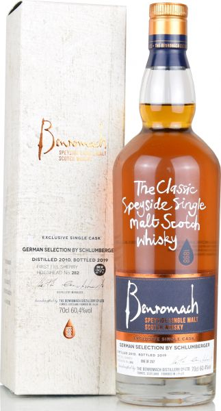 Benromach 2010/2019 1st Fill Sherry Single Cask German Selection 60,4% vol.