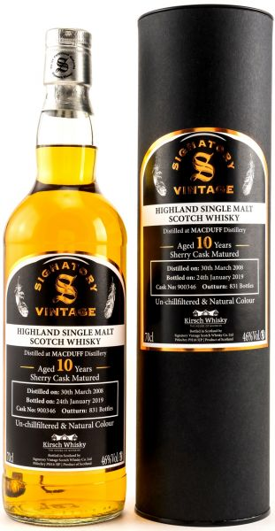 Macduff 10 Jahre 2008/2019 Sherry Cask Signatory Vintage Un-Chillfiltered for Germany #900346