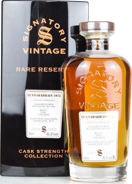 Bunnahabhain 44 Jahre 1975/2019 Signatory Vintage Rare Reserve #459 45,5% vol.