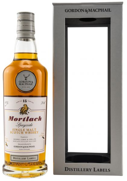 Mortlach 15 Jahre Gordon & MacPhail Distillery Label 46% vol.