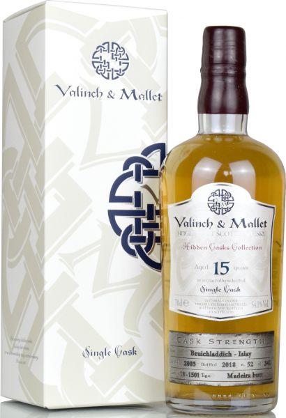 Bruichladdich 15 Jahre 2003/2018 Madeira Butt Valinch & Mallet 54,1% vol.