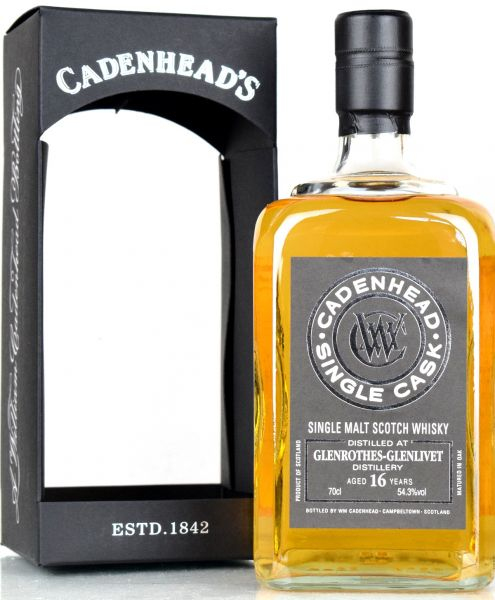 Glenrothes 16 Jahre 2001/2018 Cadenheads for France 54,3% vol.
