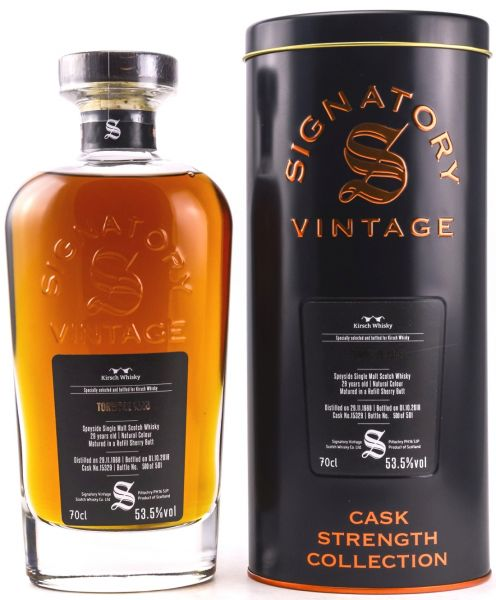Tormore 29 Jahre 1988/2018 Sherry Cask Signatory Vintage Cask Strength Collection #15329