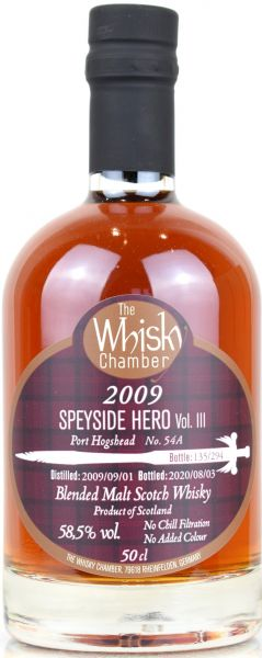 Speyside Hero III 10 Jahre 2009/2020 Port Cask The Whisky Chamber 58,5% vol.