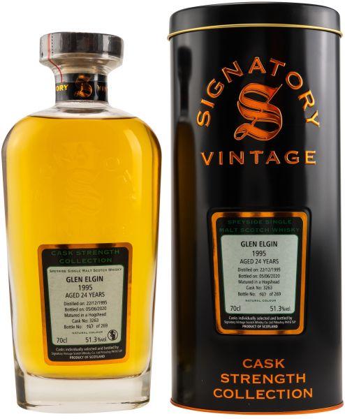 Glen Elgin 24 Jahre 1995/2020 Signatory Vintage Cask Strength Collection #3263