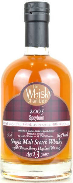 Speyburn 13 Jahre 2005/2019 Oloroso Sherry Cask The Whisky Chamber 56,9% vol.