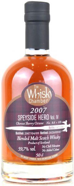 Speyside Hero IV (Burnside) 13 Jahre 2007/2020 Sherry Cask The Whisky Chamber 59,7% vol.