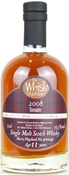 Tomatin 11 Jahre 2008/2019 1st Fill Sherry Cask The Whisky Chamber 56,3% vol.