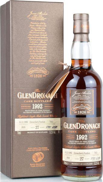 Glendronach 27 Jahre 1992/2020 Batch 18 Single Cask #7411 53,2% vol.