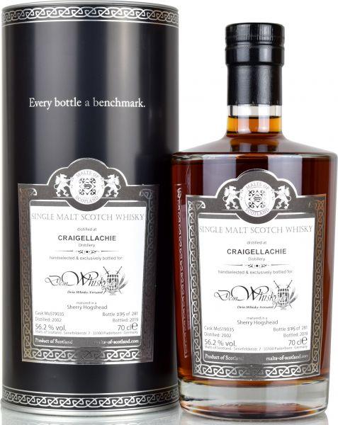 Craigellachie 17 Jahre 2002/2019 Sherry Cask Malts of Scotland for deinwhisky.de 56,2% vol.