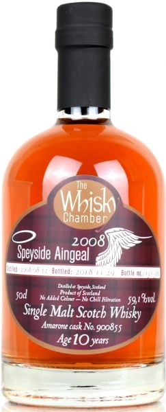 Speyside Aingeal 10 Jahre 2008/2018 Amarone Cask The Whisky Chamber 59,1% vol.