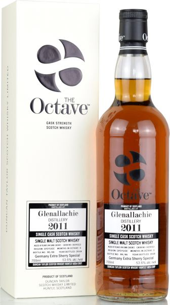 Glenallachie 8 Jahre 2011/2019 Germany Extra Sherry Special Duncan Taylor #3024553 53,6% vol.