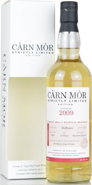 Dufftown 10 Jahre 2009/2020 Carn Mor Strictly Limited 47,5% vol.