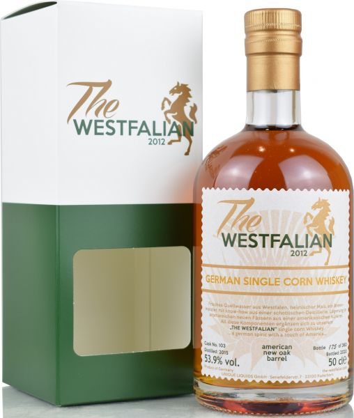The Westfalian 2015/2020 New Oak Barrel German Single Corn #103 53,9% vol.