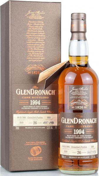 Glendronach 26 Jahre 1994/2020 Batch 18 Single Cask #4363 52,8% vol.