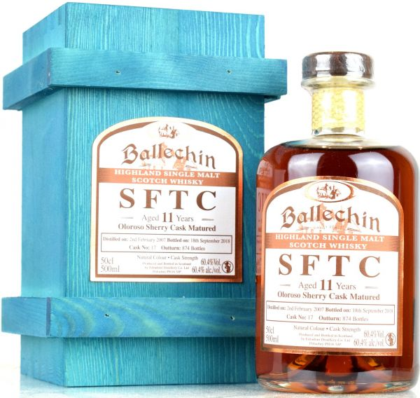 Ballechin 11 Jahre 2007/2018 Sherry Cask Straight from the Cask #17