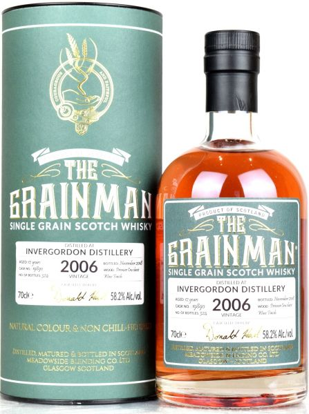 Invergordon 12 Jahre 2006/2018 Premier Cru Wine Finish The Grainman 58,2% vol.