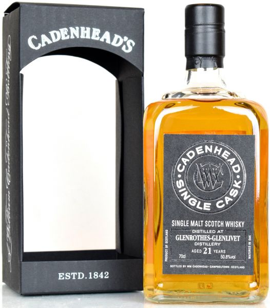 Glenrothes 21 Jahre 1996/2018 Single Cask Cadenhead's for Japan 50,8% vol.