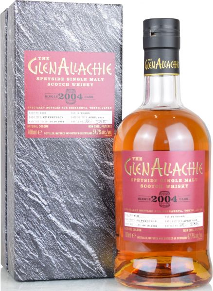 Glenallachie 14 Jahre 2004/2019 PX Sherry Single Cask for Shinanoya #4139 57,7% vol.