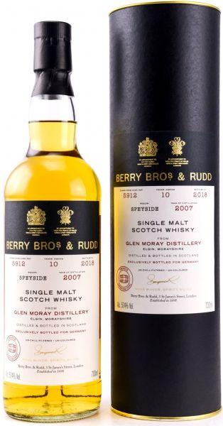 Glen Moray 10 Jahre 2007/2018 Caroni Rum Cask Berry Bros. & Rudd #5912 57,4% vol.