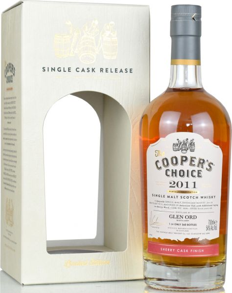 Glen Ord 7 Jahre 2011/2019 Sherry Cask Cooper's Choice 54,0% vol.