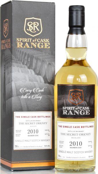 Secret Orkney (Peated) 2010/2018 Spirit & Cask Range 51,0% vol.