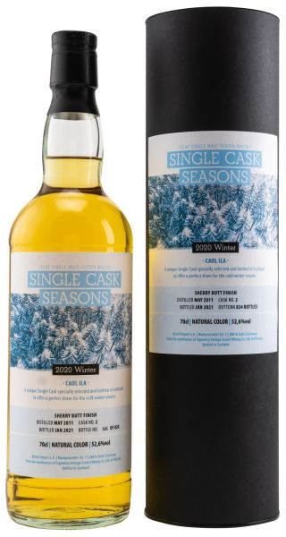 Caol Ila 9 Jahre 2011/2021 Sherry Single Cask Seasons Winter 2020 52,6% vol.